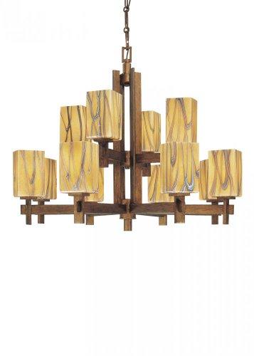 Minka-Lavery 4259-208 12 Light Chandelier 12-60W Seco Oro Bronze Seco OroB001D6Y3K8 : image
