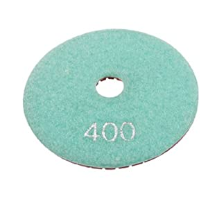 "4"" Wet Dry Diamond Polish Pad Disc 400 Grit for Granite Marble Stone"