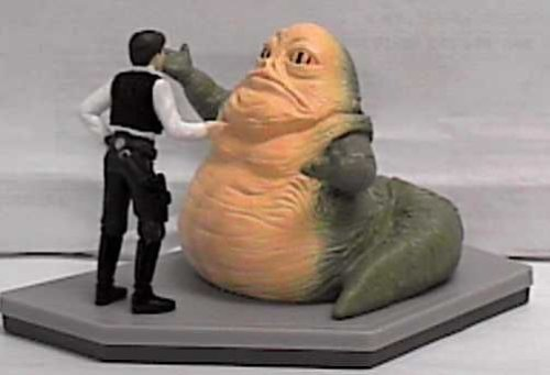 Picture of Applause Star Wars Classic Collectors Series Jabba the Hutt and Han Solo Vinyl Figures (B000BPI91G) (Star Wars Action Figures)