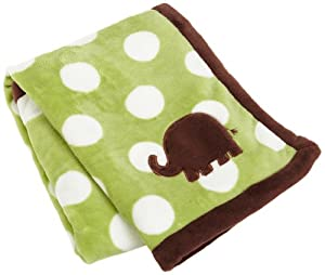 Carters Snuggle Me Elephant Boa Blanket, Green (Discontinued by Manufacturer)