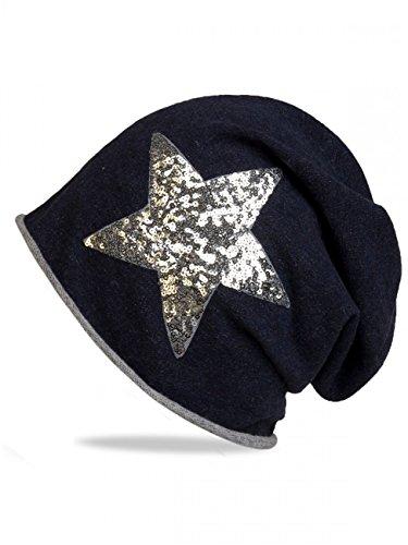 CASPAR Fashion -  Berretto in maglia  - Donna blu Taglia unica
