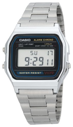 Casio Mens A158W-1 Classic Digital Bracelet Watch