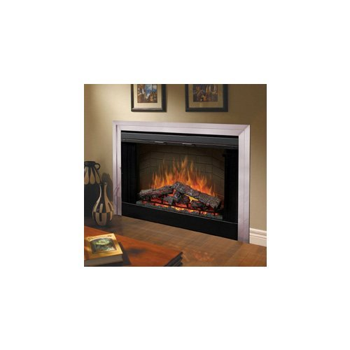 Dimplex BF45DXP 45-Inch Deluxe Built-In Electric Firebox with Resin Logs and Brick Backing