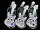 8GB Small Crystal Guitar Style USB Flash Drive with Necklace