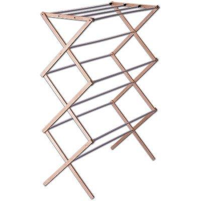 indoor clothes dryer accordion drying rack woodvinyl 42x30x15 household essentials