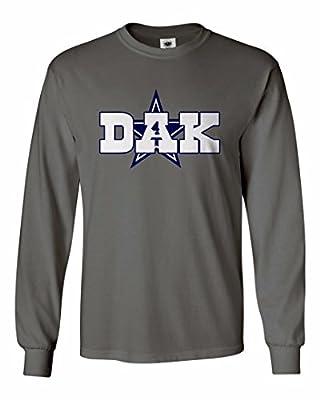 "TMB APPAREL Men's Dak Prescott Dallas ""DAK"" Long Sleeve T-Shirt"
