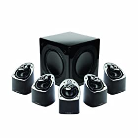 Mirage MX 5.1-Channel Miniature Home Theater Speaker System (Set of Six, Black)