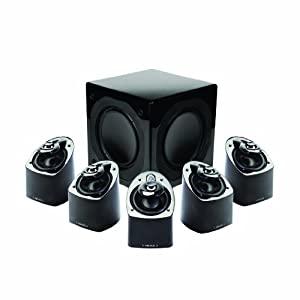 Mirage MX 5.1-Channel Miniature Home Theater Speaker System (Set of Six, Black) (Discontinued by Manufacturer)