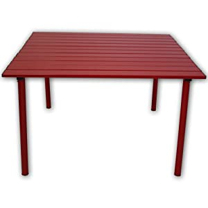 table in a bag a2716r low aluminum portable table in a bag red folding patio. Black Bedroom Furniture Sets. Home Design Ideas