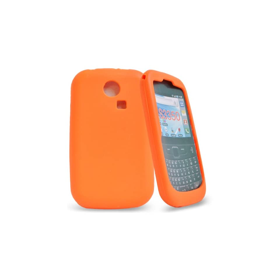 Mobile Palace   orange silicone case cover pouch holster for samsung chat s3350