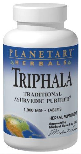 Planetary Herbals Triphala Traditional Ayurvedic Purifier, 1000 Mg, 180 Tablets (Pack Of 2)