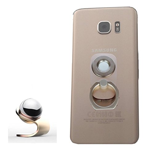 Phone Magnetic Holder, 2 in 1, Finger Ring Grip, Magnetic Car Dash Mount Stand for Iphone5 6 7, Samsung Galaxy S5 S6 S7 Edge , Note, Nexus, HTC, Nokia LG Lenovo and All Phones - Gold by SES (Make Your Own Galaxy S5 Case compare prices)
