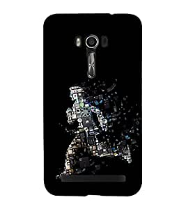 Fuson Premium Back Case Cover Machine man With black Background Degined For Asus Zenfone Go::Asus Zenfone Go ZC500TG