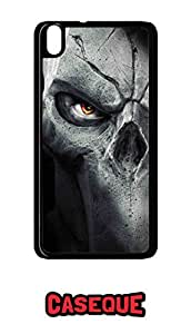 Caseque Rock Skull Back Shell Case Cover for HTC Desire 816