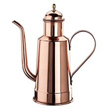 Paderno World Cuisine 9-Inch High Copper/Tin Oil Dispenser