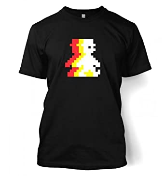 Retro Pixel Guy (trace) T-shirt - Gamer Gaming Geeky Tshirt - Black Large