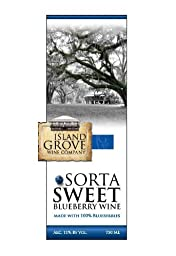 NV Island Grove Sorta Sweet Blueberry Wine 750 mL