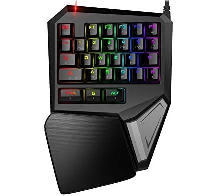 Delux T9PLus片手 機械式 青軸 ゲームキーボード LOL/FPSゲーム専用 バックライト付き