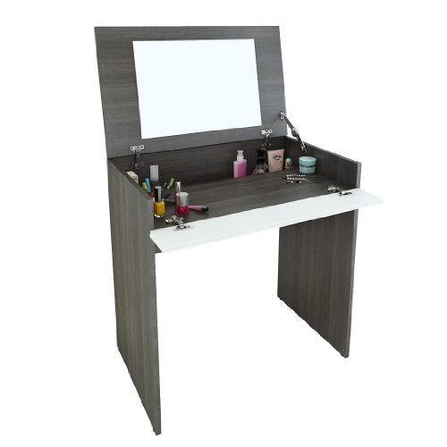 White Vanity With Mirror front-33855