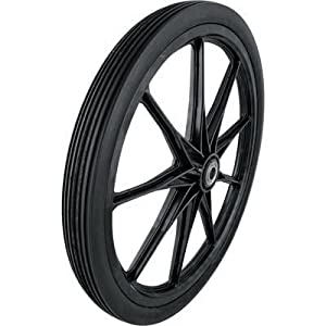 Marathon Industries 92001 20x2.0 Flat Free Cart Tire On Black Plastic Rim - 3/4-Inch Bearing