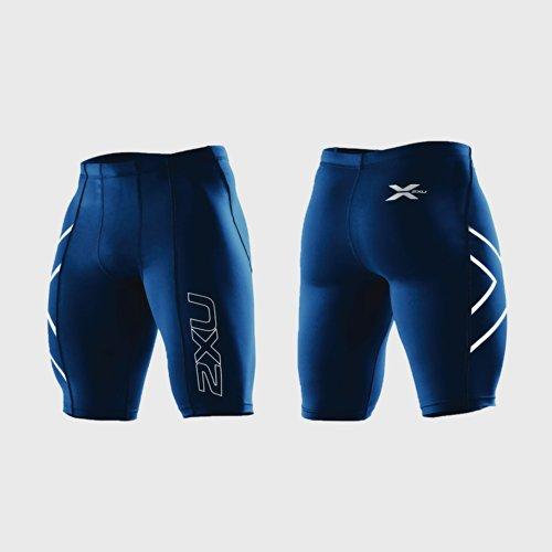 2XU Men's PWX Compression Shorts in Colour XL / Dark Green