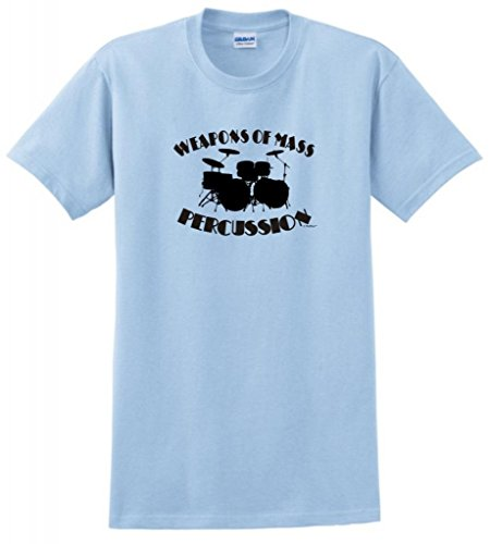 Weapons Of Mass Percussion T-Shirt Medium Light Blue