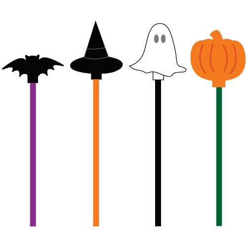 Creative Converting Halloween Assorted Drink Stir Sticks, 20-Pieces per Package - 1