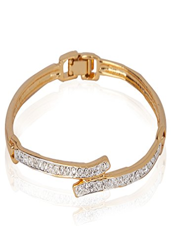 Estelle Estelle Gold Plated Bracelet With Crystals(100723) (Transperant)