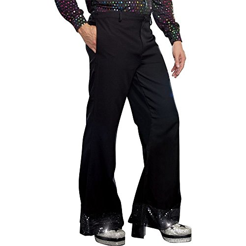 [Dreamgirl Men's Disco Pant, Black, Large] (Mens Disco Costumes Pants)