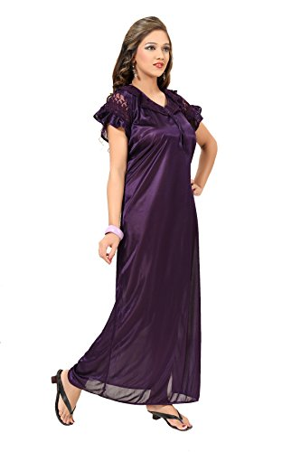 adde48d517 34% OFF on Fashigo Women s Satin Nighty (Free Size) on Amazon ...