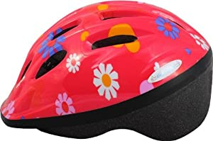 Knucklehead Flowers Bicycle Helmet, Pink, Youth