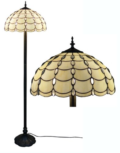 Amora Lighting AM1044FL16 Tiffany Style Cascade Floor Lamp mediterranean sea stained glass tiffany european style baroque lilac ceiling lights 30 40 50cm led bulbs lamp bedroom lighting