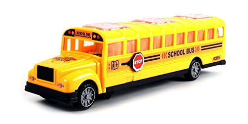 Deluxe Children's Kid's School Bus Battery Operated Bump & Go Toy Bus w/ Fun Sounds, Flashing Lights, Music - 1
