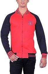 RGT Men's Fleece Regular Fit Sweatshirts (RGT6012REDBLACK-XXL)