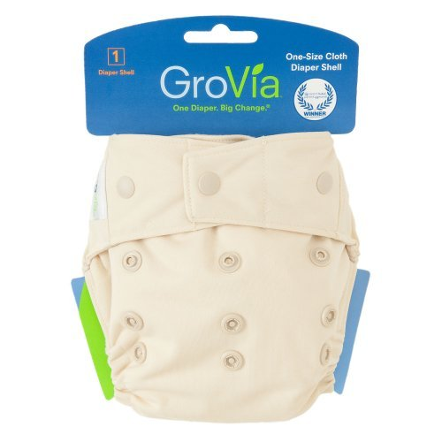 Grovia Single Diaper Shell - Snaps Vanilla front-1043678