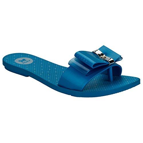 Blue Zaxy Life Slide, infradito da donna, Blu
