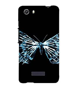 PrintVisa Butterfly Design 3D Hard Polycarbonate Designer Back Case Cover for MIcromax Unite 3 Q372