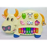 AndAlso Pianism Funny Musical Cow Educational Piano Keyboard Toy Game For Kids Children