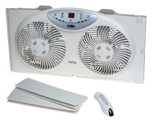Twin Window Intake Exhaust Air Exchange Fan With Remote