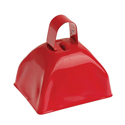 One School Spirit Metal Red Cowbell