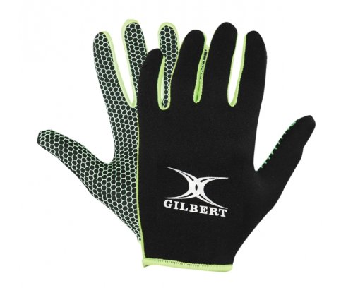 GILBERT Atomic Gloves, Black/Green, XS