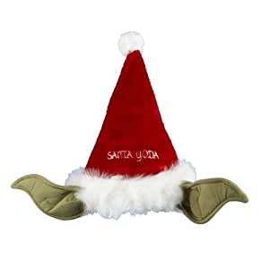 Kurt Adler Star Wars 17-Inch Plush Yoda Santa Hat with Bendable Ears