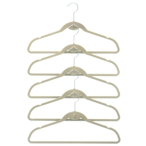 50 Pack Clutterfree Cascade Hangers - Ivory front-601890