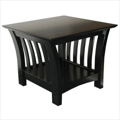 Elite Florenzia Black Wood End Table