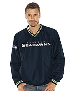 "Seattle Seahawks NFL G-III ""Stop & Go"" Wordmark Pullover Embroidered Jacket from G-III Sports"