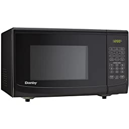 0.7 Cu. Ft. 700W Black Countertop Microwave Oven by Danby