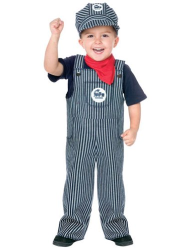 Train Engineer Toddler Costume 3T-4T - Toddler Halloween Costume - Funworld