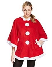 Hooded Santa Poncho