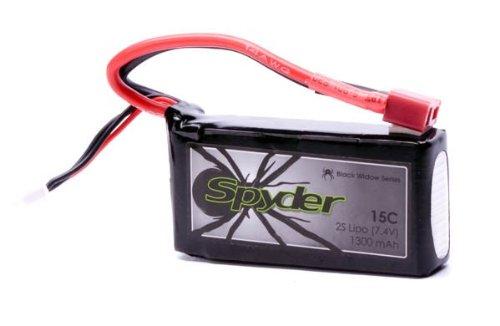 SpyderBatteries 2S 1300mAh 15C LiPo Battery 7.4V Pack