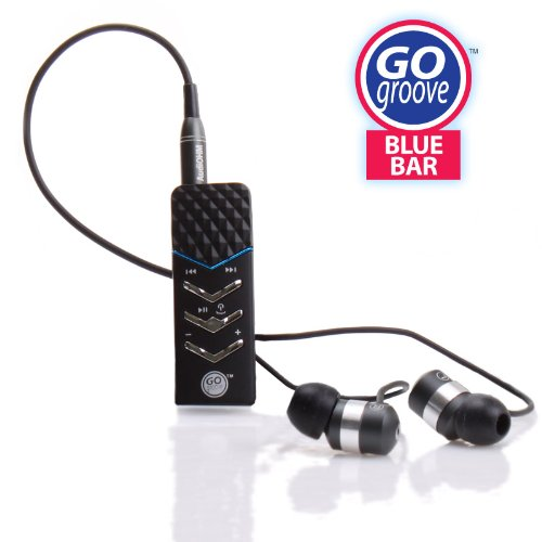 GOgroove BlueBar Bluetooth Headset Receiver And High Fidelity Ear Bud Combo. Converts Any Headphones into Bluetooth - Allows Hands-free Calling , Wireless Music Streaming. Works with most Smartphones